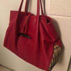 Authentic Burberry Toggle tote